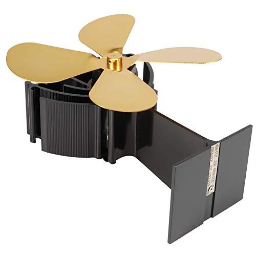 Omabeta Kamin-Wärmeventilator robust und langlebig Wartungsfreier Ofenventilator 4-Blatt Keine Batterie Wärmebetriebener Ventilator Für Hotelzimmer zu Hause