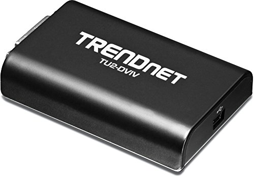 TRENDnet USB 2.0 to VGA / DVI Video Grafik Monitorerweiterung, Für mehrere Monitore bis zu 1920x1080, Windows 10, 8.1, 8, 7, XP, Mac, Direct X 9 & 10, TU2-DVIV