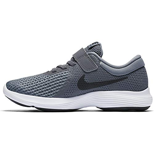 Nike Boy's Revolution 4 (PSV) Running Shoe, Dark Grey/Black - Cool Grey - White, 2.5Y Regular US Little Kid