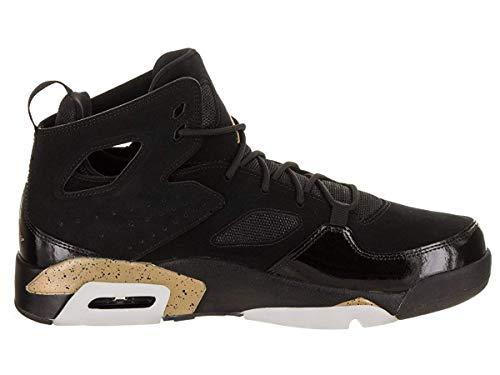 Jordan Mens Flight Club `91 Hight Top Lace, Black/Metallic Gold-White, Size 10.0