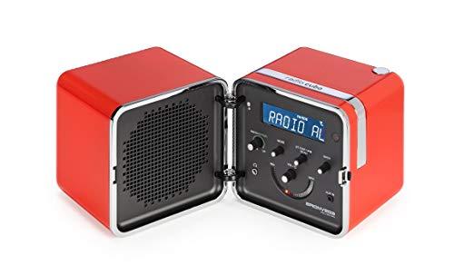 Brionvega Radio.Cubo Ts522D+S-As Radio Fm/Dab con Bluetooth, Arancio Sole