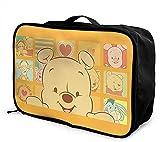 Winnie The Pooh Bolsa de viaje plegable, ligera, de gran capacidad, portátil, bolsa de equipaje para cabina, bolsa de viaje, bolsa de viaje, equipaje para viajes de negocios, excursión