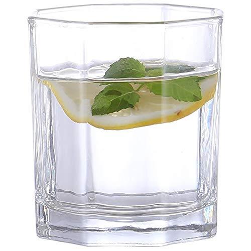 0PING Haushaltswasserglas transparent Tasse kaltes Wasser Masse eingedickte Saft Tasse Milch multifunktionales Bierglas - 6,7 Unzen (190 ml) - Satz von 2 (Color : Clear, Size : 200ml)