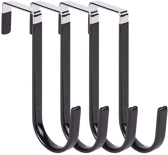 KUQI Over The Door Hooks 4 H Sturdy New Sales results No. 1 York Mall Metal Pack Single