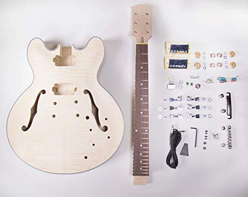 DIY Electric Guitar Kit - 335 Style Build Your Own Guitar Kit