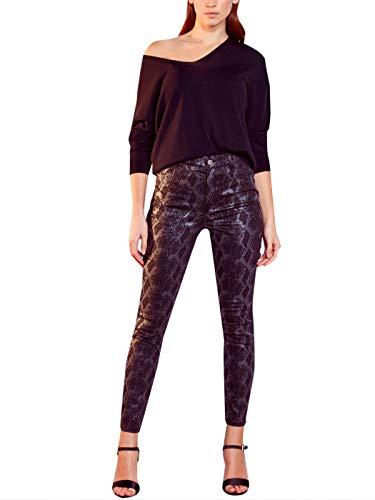 LC WAIKIKI - Pantalones Estrechos elásticos para Mujer con Estampado de Piel de Serpiente