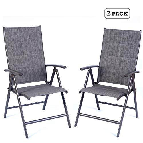 Kozyard Coolmen Outdoor Patio Dining Furniture Chair and Table Sets (2-Pack Foldable Chairs)