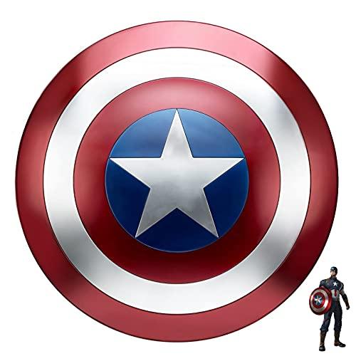 Capitan America Scudo Metallo Giocattolo Puntelli per Adulti Costume Cosplay Prop 47.5cm per La Decorazione della Parete
