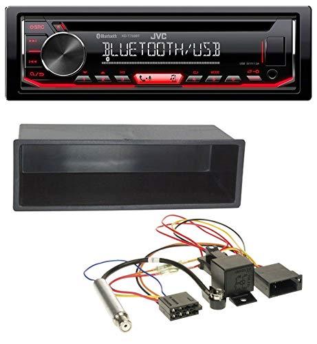 caraudio24 JVC KD-T702BT MP3 CD AUX Bluetooth USB Autoradio für VW Polo T4 Passat Golf (98-04)