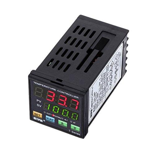 Deshunchang MyPin TA4-SNR Controlador de Temperatura Dual Digital F/C PID Control del termostato SSR de Salida de Alarma