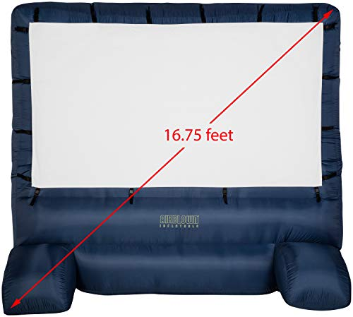 Gemmy 39127-32 - Airblown - Movie Screen - 120'x70' Widescreen Deluxe w/Storage Bag - Blue