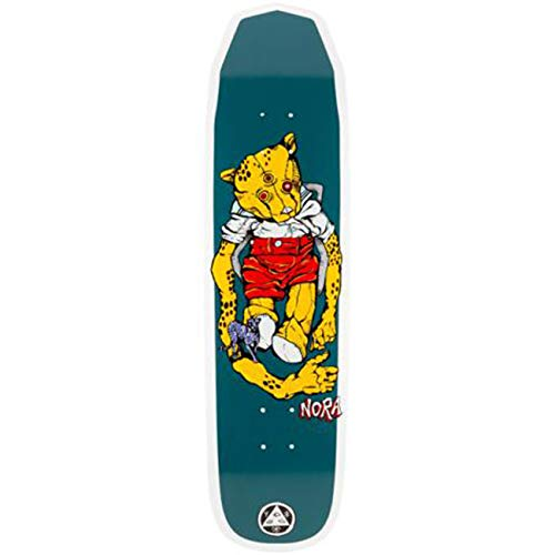 Welcome Skateboard Deck Nora Vasconcellos Teddy Wicked Q, Größe:8.5, Farben:White dip