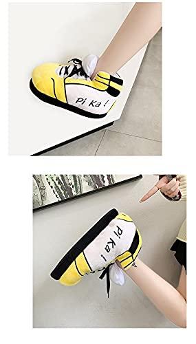 Femmes/Hommes Hiver Coton Chaussures Mignon Animal De Bande Dessinée Chaud Maison en Peluche Chaussures Femme Mâle Mousse Baskets Pain Gras Pantoufles Taille 36-43, comme Le Montre, 9