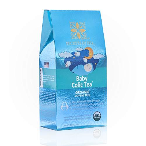 Baby Colic Herbal Tea - USDA/FDA Approved - Ayuda a aliviar el reflujo ácido, la hinchazón, la indigestión, el llanto, el gas y la cara roja - 20 bolsitas de té