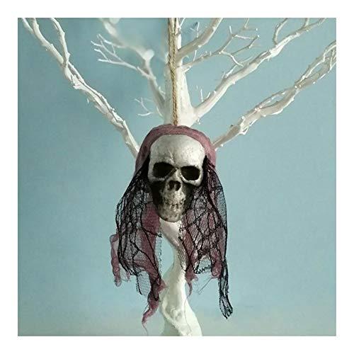 ZHEND Suministros Colgantes Cráneo Adornos De Espuma Novia del Cráneo Ropa Bone Head Escena Materiales Caseros Partido del Festival De Halloween Decoración Diseño (Color : D)