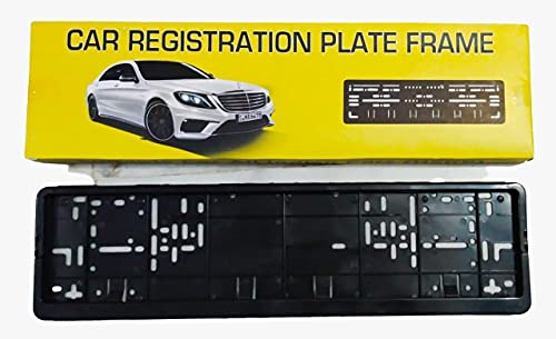 """Car Number Plate Frame Set of Two (Front and Back) 