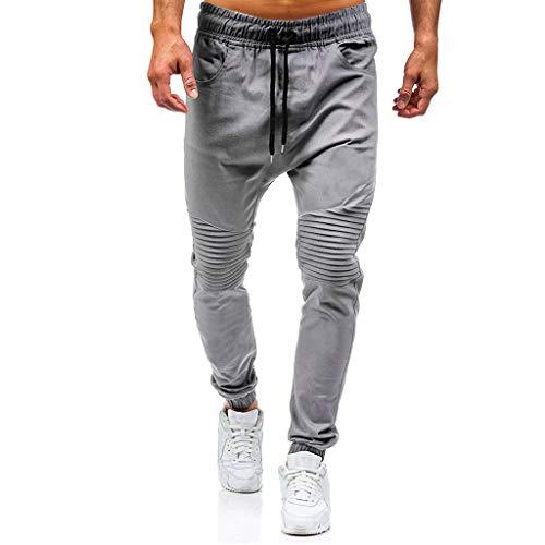 JiaMeng Pantalones de Trabajo Estilo Cargo para Hombre Pantalones Largos de pantalón de Trabajo Multibolsillos sólidos al Aire Libre Ocasionales para Exteriores Acampar Senderismo (S, A1~Gris)