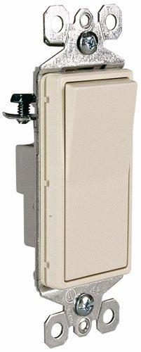 Pass & Seymour TM870LASLCC Trademaster - Interruptor de decoración (monomando, almendra claro)