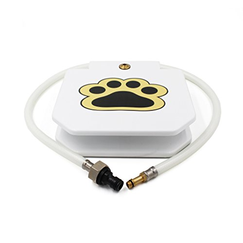 "Piepea Brass Valve Outdoor Dog/Pet Water Fountain, Step On Dog/Pet Water Dispenser System for Fresh Water, 2018 Upgraded Version providing Constant Stream,41"" Hose"