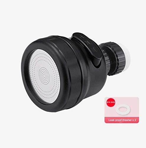 MLFPDXC-Extensor de grifo grifo de ducha de cocina ajuste de 3 niveles giratorio de 360 grados que ahorra agua grifo de ducha de baño filtro de boquilla accesorios de grifo (color: verde) -negro