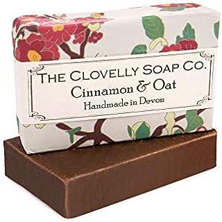 Clovelly Soap Co. Handgemachte Zimt & Hafer Naturseife für alle Hauttypen 100g