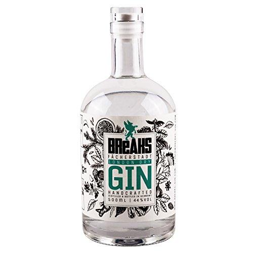 Breaks Premium Dry Gin - Ausgezeichneter Gin mit Lavendel & frischen Zitronen - Mild fruchtige Note - Handmade - 1 x 0,5 L