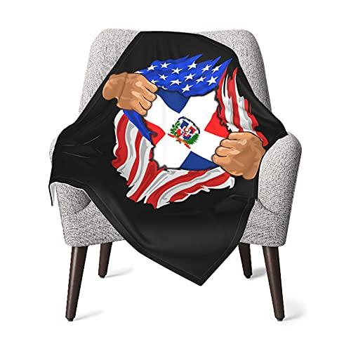 Olverz Manta para bebé, diseño de bandera de República Dominicana, cómoda, manta de bebé de felpa gruesa, manta de bebé suave para cochecito, cuna recién nacidos
