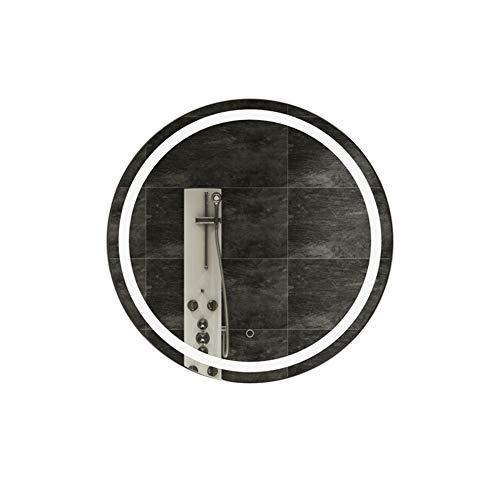 MFWallMirror Scandinavisch handen wassen badkamer wandhouder LED verlichting lichtspiegel rond verlicht toilet spiegel intelligente anti-mist badkamerspiegel
