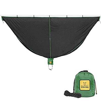 Wise Owl Outfitters Hammock Bug Net - The SnugNet Mosquito Net for Bugs - Premium Quality Mesh Netting is a Guardian for Mosquitos, No See Um and Insects - Perfect Accessory for Your Hammocks