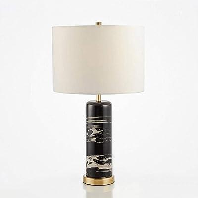 LYYJIAJU lámparas Blancas de Mesa de mármol, Dormitorio de ...