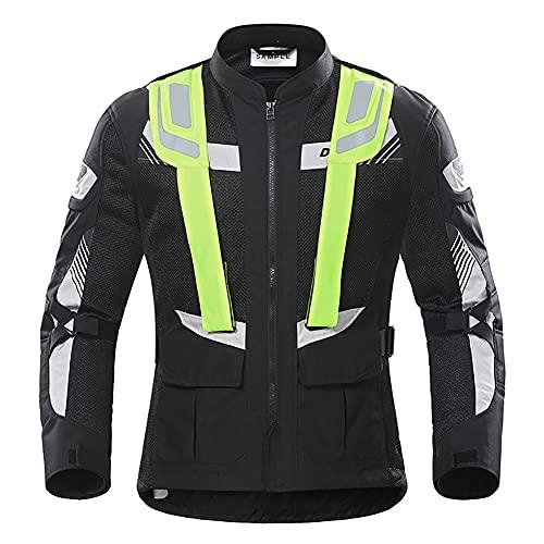 LITI Schwarz-graue Motorradjacke Wasserdicht Winddicht Mit Protektoren Belüftungssystem, Klimamembrane Und Herausnehmbarem Thermofutter