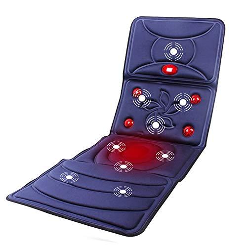 Sedile in memory foam Materasso da massaggio a raggi infrarossi riscaldato con 9 motori vibranti Cuscino massaggiante completo per il corpo Pieghevole materassino seggiolino auto sedia Cuscino massagg