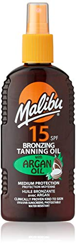 Malibu Medium Sun Protection Water Resistant Bronzing Tanning Oil Spray SPF...