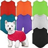 8 Pieces Dog Shirts Pet Puppy Blank Clothes Summer Soft Dog T-Shirt Breathable Dog Plain Shirts Puppy Clothes Outfit for Most Dogs Cats Puppy Pet (S)