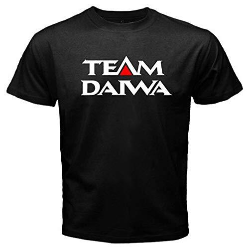 HongXia Mens Team Daiwa Logo Pro Fishing Winner Men's Black T-Shirt