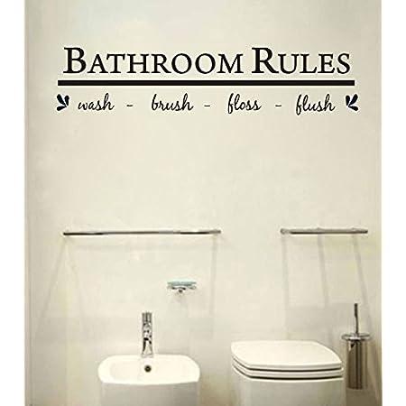 BATHROOM wall vinyl sticker decal childs bathroom ornate design decor Free Shipping