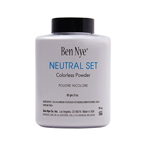 Polvo Facial Translúcido Incoloro de Maquillaje – Neutral Set 3oz, Hecho en EE.UU.