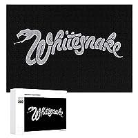 Whitesnake 300ピースジグソーパズル木製パズル 子供 グッズ 初心者向け ギフト 人気 減圧知育玩具大人 耐久性 高級印刷 無毒 無臭 無害 難易度調整可能 プレゼント