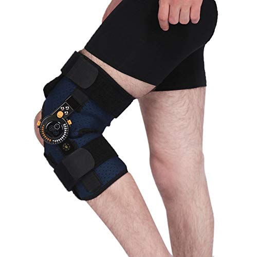 Rodillera funcional, rodillera ajustable con bisagras, para ACL, lesiones de rodilla, soporte, menisco, alivio del dolor, lesiones deportivas (unisex)