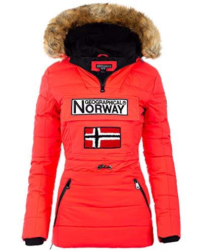 Geographical Norway Damen Windbreaker Jacke Coral L