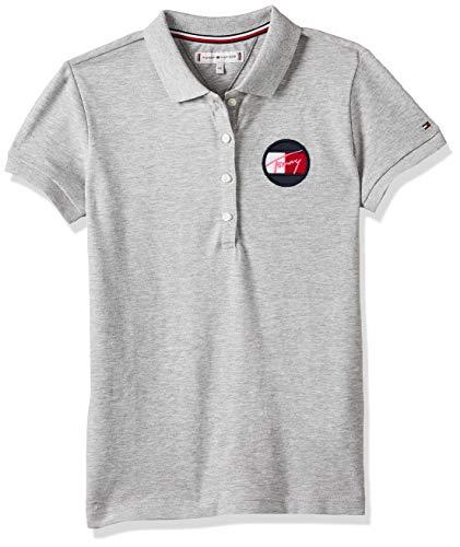 Tommy Hilfiger Mädchen Essential Polo S/s Poloshirt, Grau (Grey P01), One Size (Herstellergröße: 80)