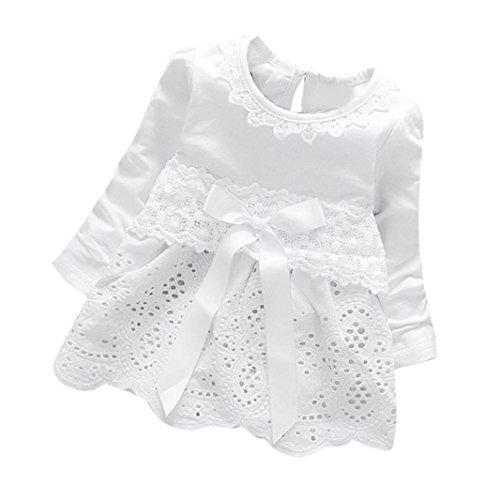 Covermason Baby Mädchen Kleider Prinzessin Kleider Dresses (0-6M, Weiß)