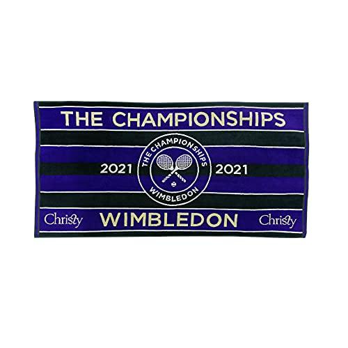 ウィンブルドン2021 チャンピオンシップタオル メンズ 70×133cm グリーン×パープル 男子選手使用カラー