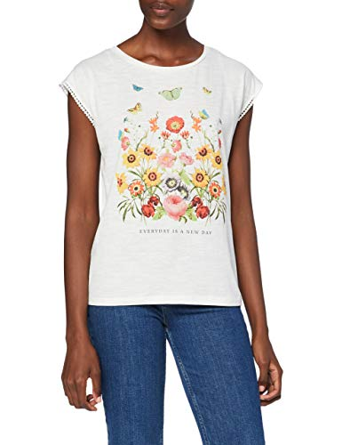 Springfield 1388061 T-Shirt, Blanco, L Womens