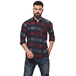 Campus Sutra Mens Checkered Casual Shirts