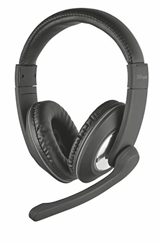 Trust Reno Cuffie Over-Ear con Controllo Volume Integrato e Microfono Regolabile, Nero