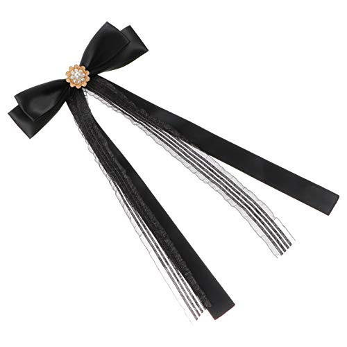 VALICLUD Broches de Nudo de Lazo para Mujer Lazo de Cinta Broche de Lazo Corbata de Cuello Ramilletes Alfileres de Cuello Corbata para Mujer Joyería Accesorios para Banquete de Boda