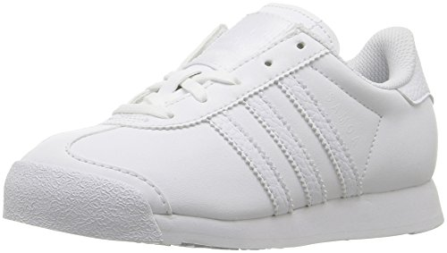adidas Originals Kids' Samoa C Running Shoe, White/White/Light Grey, 11.5 M US Little Kid