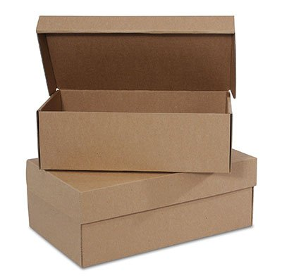 12' x 7' x 4' Kraft Women's Shoe Boxes (25 Boxes) - AB-238-1-50