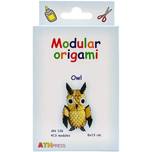 Modular Origami crfq0_ 82Kit 413Pieza Owl Origami–Kits, Transparente, 16x 9x 3cm